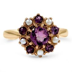 Amethyst and pearl - The Qamra Ring from Brilliant Earth