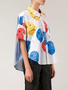 Shop JULIEN DAVID balloon print shirt from Farfetch