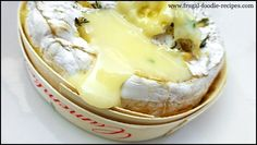 Baked Camembert: melted cheese with garlic and thyme, what a wonderful appetizer!