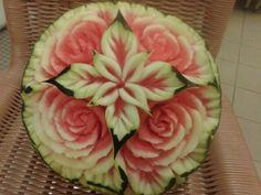 #Rosas en sandía#