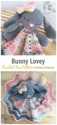 Best No Cost sewing baby lovey Strategies Bunny Lovey Crochet Free Pattern- Baby Security Comforter Free Pattern Crochet Lovey Free Pattern, Crochet Gratis, Crochet Patterns Amigurumi, Crochet Blanket Patterns, Baby Blanket Crochet, Baby Patterns, Lovey Blanket, Free Crochet, Knit Crochet