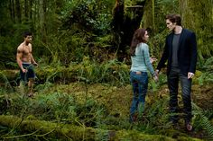 Picture: Taylor Lautner, Kristen Stewart and Robert Pattinson in 'New Moon' Pic is in a photo gallery for 'The Twilight Saga: New Moon' featuring 133 pictures. Twilight Saga New Moon, Twilight Saga Series, Twilight Breaking Dawn, Twilight Movie, Breaking Bad, New Moon Pictures, New Moon Movie, Edward Bella, Edward Cullen