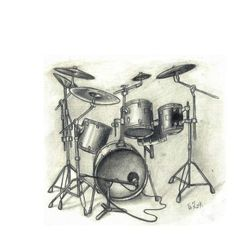 music and drum set
