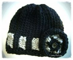 Free Loom Knit Hat Pattern                                                                                                                                                                                 More
