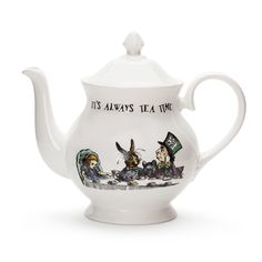 Mrs Moore's Vintage Store | Alice In Wonderland Tableware Alice In Wonderland Teapot, Vintage Store, Perfect Cup Of Tea, Mad Hatter Tea, Mad Hatters, Teapots And Cups, Chocolate Pots, Tea Accessories, Interior Accessories