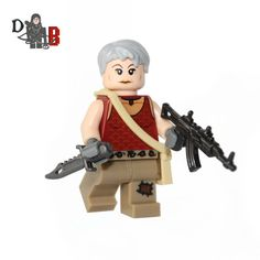 Custom designed Minifigure based upon Carol from The Walking Dead Series. Includes Carols Assault rifle and knife.