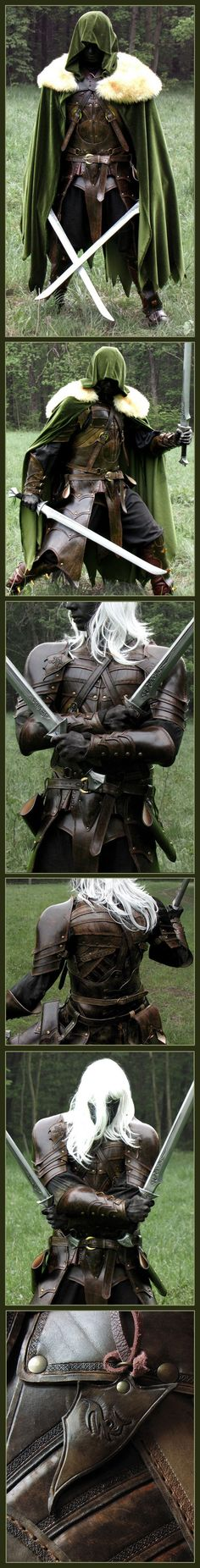 Elven Leather Armor for the urban warrior...not designed for bike riding but…