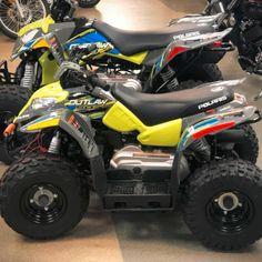 RED Shock Covers POLARIS Racing YOUTH Predator 50 90 Outlaw 50 ATV Set of 3