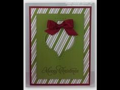 Stampin' Up! Video Tutorial Christmas Cards 2014 2 Merry Everything - YouTube