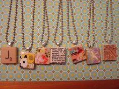 scrabble necklaces fun to make