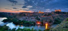 Toledo http://ift.tt/1PwaAJe SpainToledoarchitecturecitycloudslong exposurenightshotsunsettravelwater