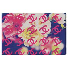 Canvas print with a floral motif and fashion logo overlay. Made in the USA.   Product: Canvas printConstruction Material...