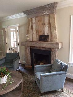 fireplace mantels | Flooring Hand-Hewn Timbers Antique Barn Siding ...