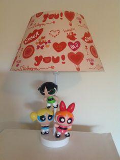 Powerpuff Girls. Cartoon. Upcycled Toy Lamp. Handmade by ToyGlory, $45.00