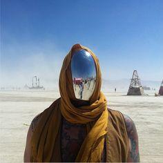 Burning Man 2013 Mirror face