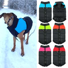 Waterproof Pet Dog Puppy Vest Jacket Warm Quilted Padded Puffer Winter Dog Clothes Coat For Small Medium Dogs 4 Colors S M L XL