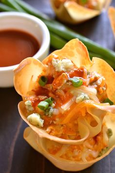 Buffalo Chicken Wonton Cups | Lemon Tree Dwelling