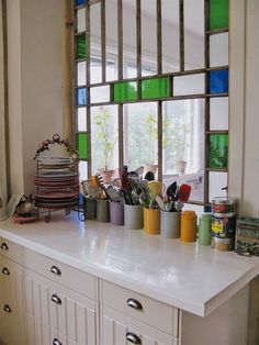 stained glass kitchen