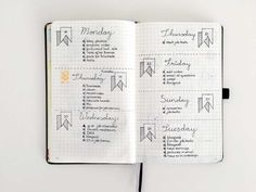bullet journal daily, inspiration pages, nederland, boekje