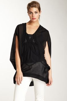 L.A.M.B. Braided Embellished Tunic Top by Blowout on @HauteLook