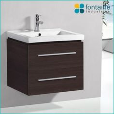 Riva 600  - Timber melamine finish on a classic vanity, perfect for an ensuite or powder room. $376