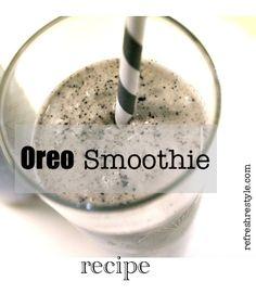 Easy recipe for an Oreo {Smoothie}  Yes, I said Oreo ;0