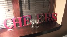 9.5 Cheers Wooden Word Art by RedRiverValley on Etsy, $32.00 Word Wall Decor, Wooden Words, Host A Party, Great Memories, Word Art, Good Times, Cheers, Art Price, Neon Signs