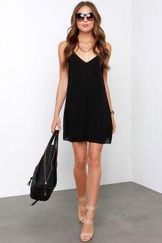 Cutout All Night Black Dress at Lulus.com!