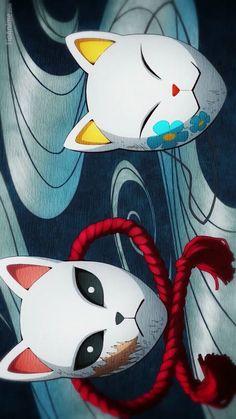 Demon Slayer Kimetsu No Yaiba Giyuu Demon Slayer, Slayer Anime, Anime Chibi, Kawaii Anime, Otaku Anime, Anime Art, Kitsune Mask, Estilo Anime, Japan Art