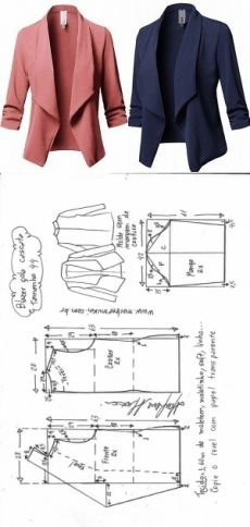 Outstanding 10 #sewing  projects are offered on our site. Read more and you wont be sorry you did. Fashion Sewing, Diy Fashion, Fashion Outfits, Moda Fashion, Fall Outfits, Blazer Pattern, Jacket Pattern, Dress Sewing Patterns, Clothing Patterns