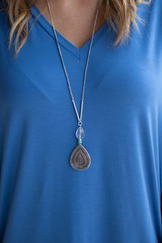 Pink Slate Boutique - A Drop in Time Necklace, $15.00 (http://www.pinkslateboutique.com/a-drop-in-time-necklace/)