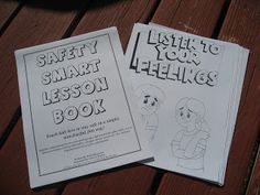 Safety Smart Lesson Book And Coloring Pages