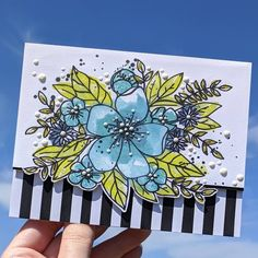 I'm loving Hello Lovely stamp set, and this is the first of a few cards I made using it. I stamped the outline in black,…