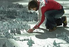 New York-style miniature city made from
