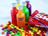 Skittles Vodka Recipe | College Party Guru. Made this before red and orange are the best