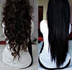 Wavy and straight hair. How I WISH my hair looked