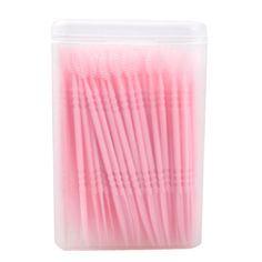 Neue Ankunft 150 stücke 2 Way Oral Dental Picks Zahnstocher Interdentalbürste mit Tragbaren Fall Tragbare Zahnstocher