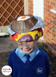 We love this creme egg idea, so if you're struggling for Easter bonnet ideas, we've got 25 brilliant bonnet ideas for you to make, featuring everything from dinosaurs to Batman.