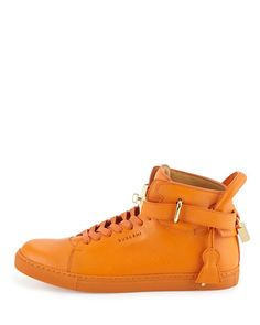 b6c1f8551a5a 100mm High-Top Leather Sneaker