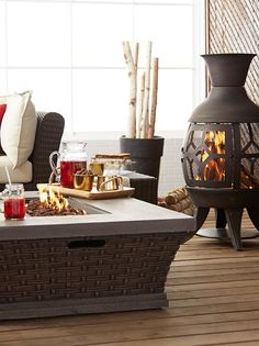 A is the perfect way to add warmth to your and it doubles as a s'mores toaster! For pieces that suit you, check out our Inspiration pages. Chiminea, Canadian Tire, Outdoor Living, Outdoor Decor, Hello Summer, Cozy Cottage, Outdoor Landscaping, Curb Appeal, Sweet Home