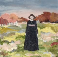 Margaret lived in a world only she could see by amanda blake art, via Flickr