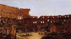 Tableaux sur toile, reproduction de Cole, Intérieur du colisée, Rome