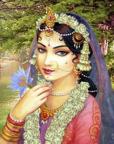 The earth is a bewitching bride that none may marry. Don't fall in the trap of over investing in the transitory Lord Krishna Images, Radha Krishna Pictures, Radha Krishna Love, Radhe Krishna, Indian Bridal Photos, Radha Krishna Wallpaper, Radha Rani, Krishna Painting, Indian Art Paintings