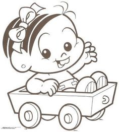 Mônica Baby Coloring Books, Coloring Pages, Pinturas Disney, Cute Animal Drawings, Embroidery Patterns Free, Hello Kitty, Cute Animals, Snoopy, Kawaii