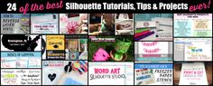 24 Silhouette Tutorials You Need In Your Crafting Life! | Silhouette School | Bloglovin'