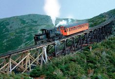 (NEW HAMPSHIRE) The Cog Railway has been bringing visitors to the top of Mount Washington for nearly 140 years. Spectacular scenery unfolds during the three-mile journey..