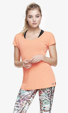 EXP CORE CUT-OUT BACK JERSEY TEE - ORANGE