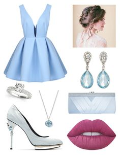 """""""Innocent"""" by siri12345 ❤ liked on Polyvore featuring Oscar de la Renta, McTeigue & McClelland, Lime Crime, Ippolita and GCGme"""