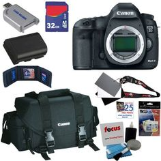 Canon EOS 5D Mark III 22.3 MP Full Frame CMOS Digital SLR Camera (Body) + Canon Gadget Bag + LP-E6 Battery + 6pc Bundle 32GB Accessory Kit by Canon. Save 3 Off!. $3499.00. Canon is proud to present the highly anticipated EOS 5D Mark III. With supercharged EOS performance and stunning full frame, high-resolution image capture, the EOS 5D Mark III is designed to perform. Special optical technologies like the 61-Point High Density Reticular AF and an extended ISO range of 100-25600 (e...