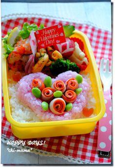 バレンタイン★ラブリーハートのお弁当(キャラ弁、デコ弁)|HAPPY DAYS! |Ameba (アメーバ)